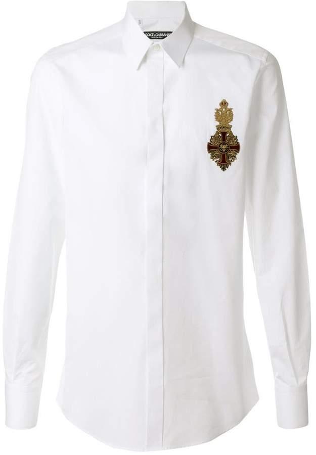 Dolce & Gabbana crest appliqué shirt