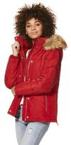 F&F Faux Fur Trim Shower Resistant Padded Jacket, Women's