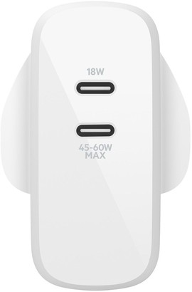 Belkin Boost?Charge Dual Usb-C Pd Gan Wall Charger 63W