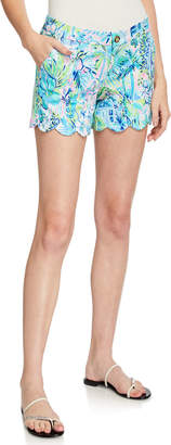 Lilly Pulitzer Buttercup Scallop-Hem Knit Shorts