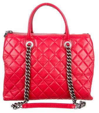 Chanel Quilted Zip Shopping Tote