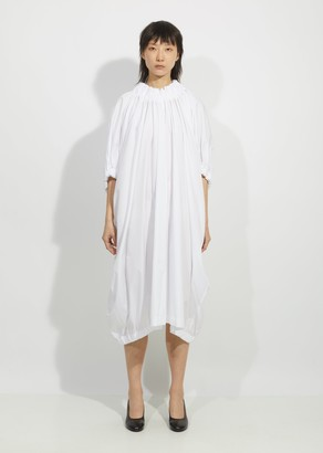 Comme des Garçons Comme des Garçons Cotton Broadcloth Ruched Dress
