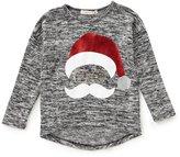 Copper Key Little Girls 2T-6X Christmas Santa Knit Top