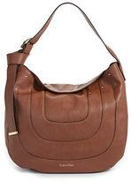 Calvin Klein Nola Faux Leather Hobo Bag