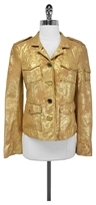 Tory Burch Gold Sgt Pepper Leather Jacket