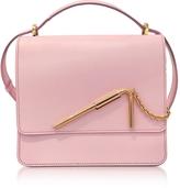 Sophie Hulme Pastel Pink Medium Straw Bag