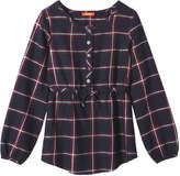 Joe Fresh Kid Girls' Plaid Tunic, Navy (Size L)
