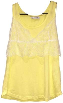 Sandro Yellow Cotton Top for Women
