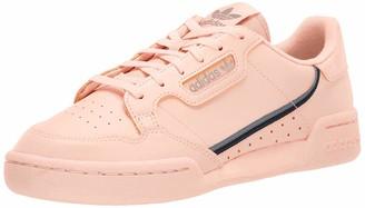 adidas Men's Continental 80 Hiking Shoe core Black/Orange/Sesame 6 M US