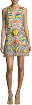 Alice + Olivia Natali Sleeveless Sequined Racerback Dress, Multicolor