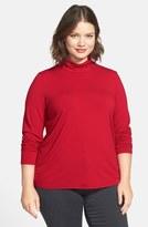 Eileen Fisher Plus Size Women's Scrunch Neck Tee