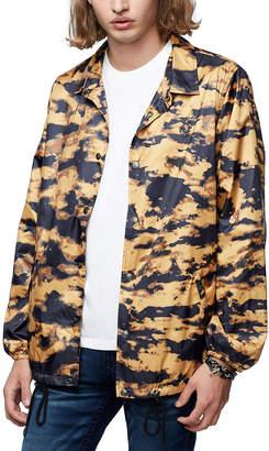 True Religion Men's Non-Denim Casual Jackets BLACK - Black & Bleach Camo Button-Up Jacket - Men