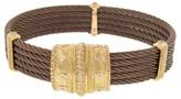 Charriol 18K Petra Gold 5 Row Nautica Cable Diamond Bronze Bracelet