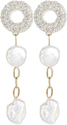 Lizzie Fortunato Chateau Pearl Drop Earrings