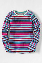 Classic Girls Plus Gathered Shoulder Tee-Multi Color Yarn Print