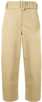 Proenza Schouler White Label Belted Cropped Trousers
