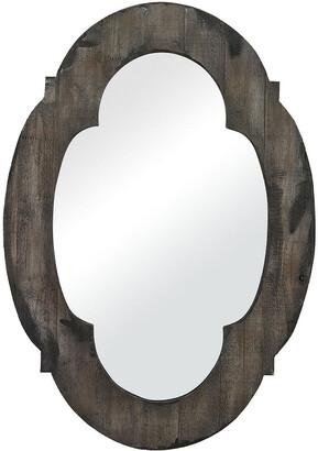 Bailey Street Aged Wood Grey Mirror