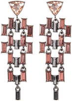 French Connection Crystal Linear Chain Drop Earrings