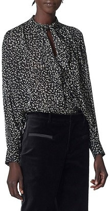 Joie Maiza Printed High-Low Blouse