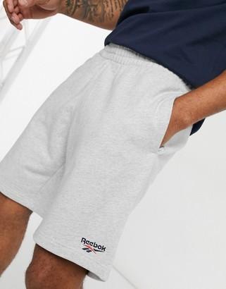 Reebok Classics vector logo shorts in gray