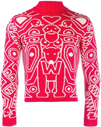 Walter Van Beirendonck Pre Owned 2010/11's Take A W-Ride high neck jumper