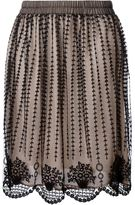 RED Valentino sheer embroidered skirt