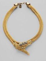Turquoise & Hematite Double Layered Snake Necklace