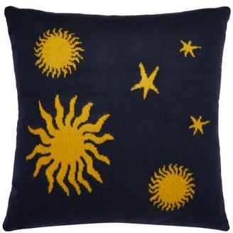 The Elder Statesman Starry Night Cashmere Cushion - Navy Multi