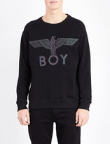 Boy London Logo-detail cotton-jersey sweatshirt