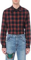 Gucci Tartan cotton and wool-blend shirt