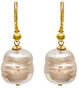 Majorica Baroque Manmade Organic Pearl Drop Earrings