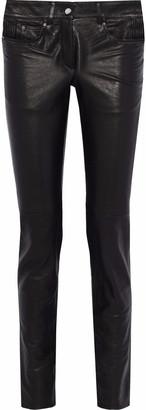 Belstaff Paneled Leather Skinny-leg Pants