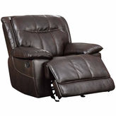 Asstd National Brand Faux Leather Pad-Arm Recliner