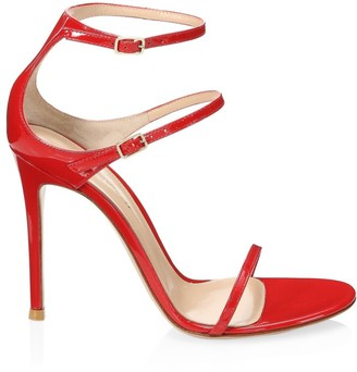 Gianvito Rossi Double Buckle Leather Sandals