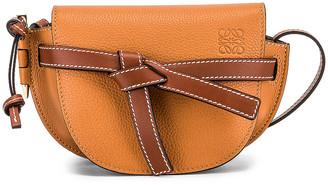 Loewe Mini Gate Bag in Light Caramel & Pecan | FWRD