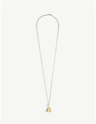 Kressida Pyramis gold-plated sterling silver necklace