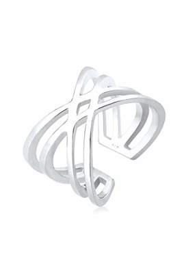 Elli Women's 925 Sterling Silver Wrap Cross Ring Size - N 0610641016_54