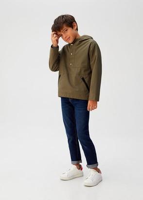 MANGO Hooded outdoor jacket khaki - 4-5 years - Kids