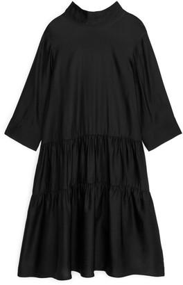 Arket Lustrous Gathered Dress