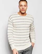 NATIVE YOUTH Geostitch Detail Knit Sweater