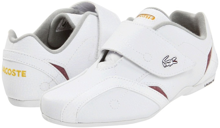 Lacoste Kids - Protect Vyk (Toddler/Youth) (White/Dark Red) - Footwear