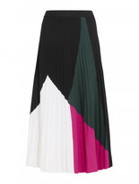 Proenza Schouler color-blocked pleated knitted midi skirt