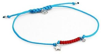 Sydney Evan Syd By Sterling Silver, Diamond & Star Charm Cord Bracelet