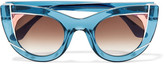 Thierry Lasry Wavvvy Cat-eye Acetate Sunglasses - Blue