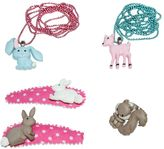 Pop Cutie Animals Ring, Necklaces & Hairclip Set