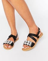 Park Lane Jewel Strap Flat Sandals