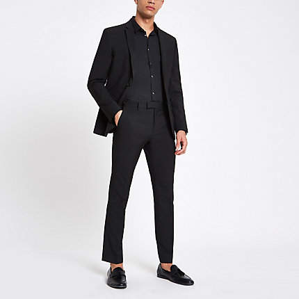 River Island Black skinny suit trousers