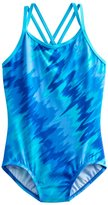 Nike Girls 7-14 Abstract One-Piece Swimsuit