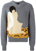 3.1 Phillip Lim woman intarsia jumper - men - Wool - S