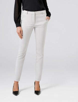 Forever New Faye Full Length Slim Pants - Dove Grey - 14